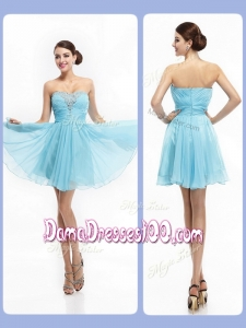 Top Selling Strapless Short Affordable Dama Dresses with Beading