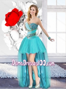 Sweet A Line Sweetheart Classical Dama Dresses with Beading
