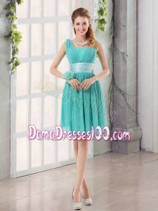 Straps Ruching Sweetheart A Line 2015 Elegant Dama Dress