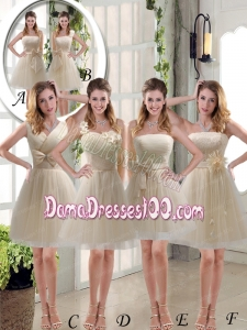 Elegant Princess Mini Length Lace Dama Dress with Bowknot