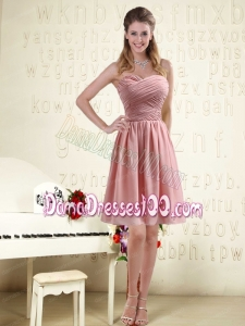 Fitted Sweetheart Empire Chiffon Dama Dresses with Ruching