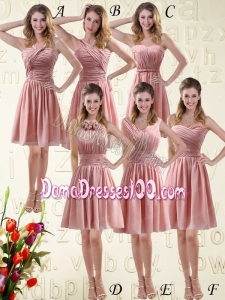 Romantic Sweetheart Empire Chiffon Dama Dresses with Ruching