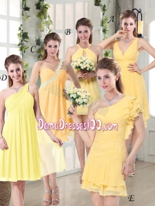 Discount Fashionable Decorated Dama Dresses in Chiffon