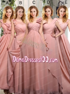Empire Ruching 2015 Sturning Dama Dresses in Peach