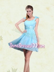 A Line Straps Dama Dresses with Ruching and Bowknot