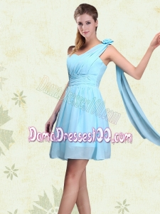 One Shoulder A Line Ruching Dama Dresses for 2015