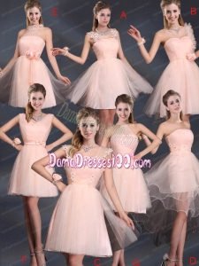 Baby Pink Mini Length 2015 The Most Popular Dama Dresses
