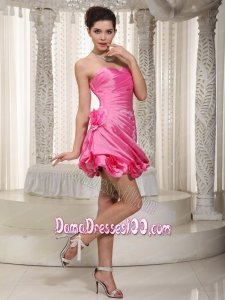 Sexy Beaded Decorate Dama Dress With Sweetheart Mini-length Organza