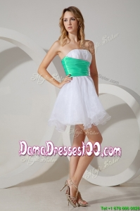 Romantic Belted and Beaded Dama Dress in Mini Length