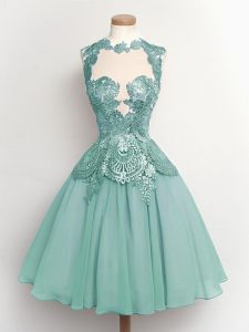 2c203b25349  165.65  67.71  Fancy High-neck Sleeveless Quinceanera Court Dresses Knee  Length Lace Light Blue Chiffon