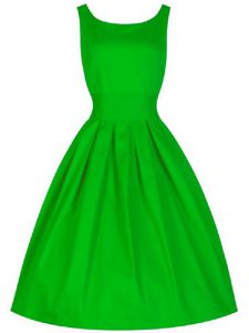 Knee Length A-line Sleeveless Green Dama Dress Lace Up
