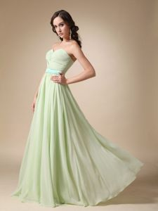 2014 Yellow Green Empire Sweetheart Dama Quinceanera Dresses