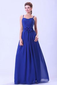 Royal Blue Dama Quinceanera Dresses Spaghetti Straps in Summer