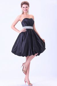 Lovely Navy Blue Knee-length 15 DressFor Damas with the Belt