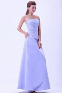 Lilac Straps Ankle-length Prom Dresses For Dama with Cool Back