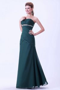 Green Appliques Quinceanera Dama Dresses with Ruching on Top