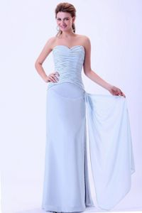 Light Blue Sweetheart Quince Dress For Dama with Side Dripping