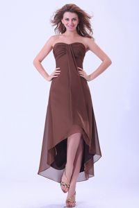 Brown Sweetheart 15 Dresses For Damas with Longer Back than Front
