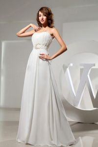 Ivory Sweetheart Ruching 15 Dresses For Damas with Waist Beaded