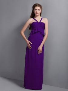 Eggplant Purple Dresses For Damas with Waist-Defining Peplums