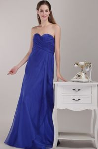 Royal Blue Empire Floor-length Sweetheart Dama Dress for Sweet 16