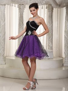 Organza Puffy Beaded Two-Toned Dama Dress for Quinceanera
