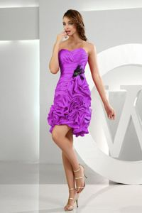 Sweetheart Ruched Lavender Dama Dress with Pick-ups and Ruffles