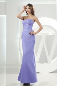 Mermaid Sweetheart Lilac Dama Dress For Quinceaneras in Satin