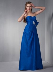 Hot Sale Sweetheart Long Royal Blue Quinceanera Damas Dresses