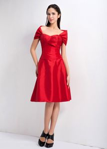 Sweetheart A-line Knee-length Red Bridesmaid Dress for Dama