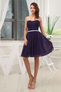 purple knee length dress - new dama dresses
