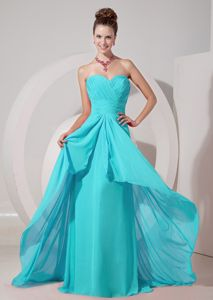 Brush Train Empire Sweetheart Dress for Damas in Aqua Blue