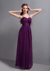 Spaghetti Straps Eggplant Purple Ankle-length 15 Dresses For Damas