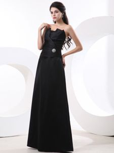 Black Quince Dama Dresses Strapless Beading Floor-length