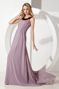 Empire Scoop Brush Train Dama Dresses For Quinceaneras