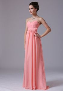 Watermelon Sweetheart Quinceanera Dama Dresses Floor-length