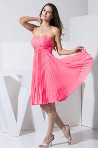 Beading Sweetheart Pleated Hot Pink Quinceanera Dama Dresses