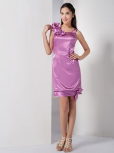 Column Square Mini-length Lilac Damas Dresses For Quince