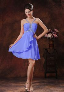 Beading Halter V-neck Short Dama Dresses For Quinceanera