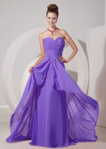 Sweetheart Purple Dama Dresses For Quinceanera Brush Train