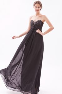 Beaded Sweetheart Ruched Chiffon Zipper Up 15 Dress for Damas