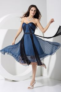 Multi-color Sweetheart Pleated Chiffon Zipper Up Back Dama Gown