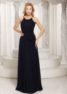 Sheath and Scoop Black Sash 2013 Damas Dresses for Quinceaneras