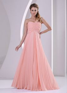 Watermelon One Shoulder Pleating Brush Train Damas Dresses for Quince