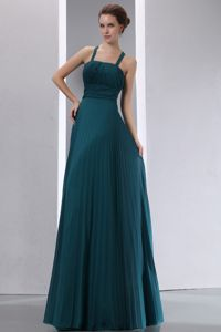 Peacock Green Straps Pleating Dama Quinceanera Dresses with Sash