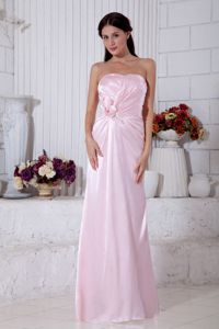 New Arrival Ruched Light Pink Dama Dresses Empire Strapless