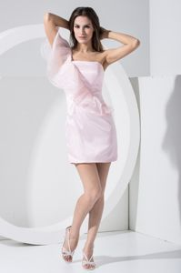 New Side Zipper Short Baby Pink Quince Dama Dresses with Cape